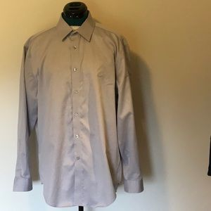 CALVIN KLEIN 100% Cotton Dress Shirt NWOT non-iron